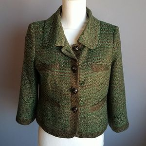 Limited Collection Woven Tweed Jacket
